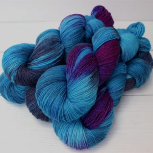 Blue Face Leicester/Bamboo Sock Yarn