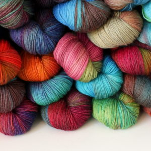 Blue Face Leicester/Bamboo Yarn-One of a Kind